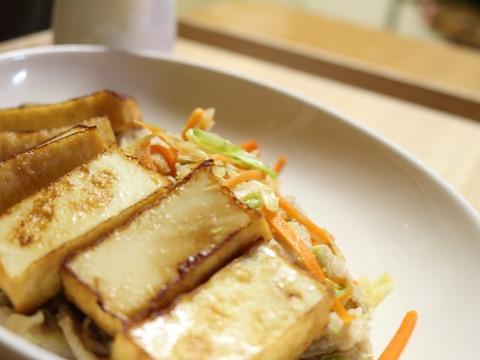 厚揚げと野菜のポン酢炒め3