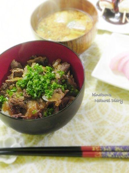 """家庭用電気圧力鍋""で作る 牛丼"