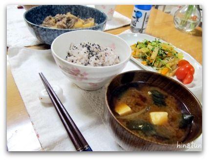 おだしいらずの肉じゃが&豆苗と大根のナムル第2段!