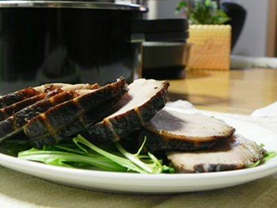 圧力鍋オースで作る紅茶豚(煮豚)
