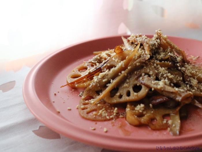 ごぼうとれんこんのきんぴら☆作り置き&お弁当おかずにも♪今日のお弁当の一品。