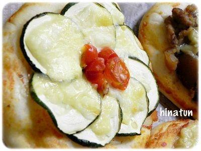 ズッキーニのお花ピザ