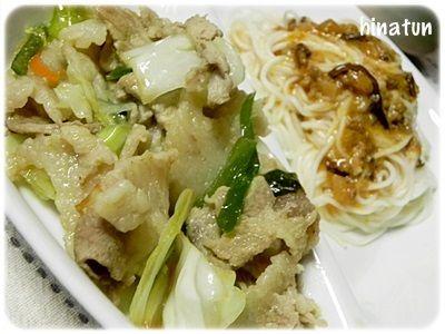 0629豚肉と野菜の炒めもの&坦々ソーメン