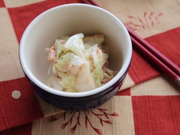 白菜を ツナで漬けたら洋風な お漬物が出来上がり 「白菜とツナのお漬物」