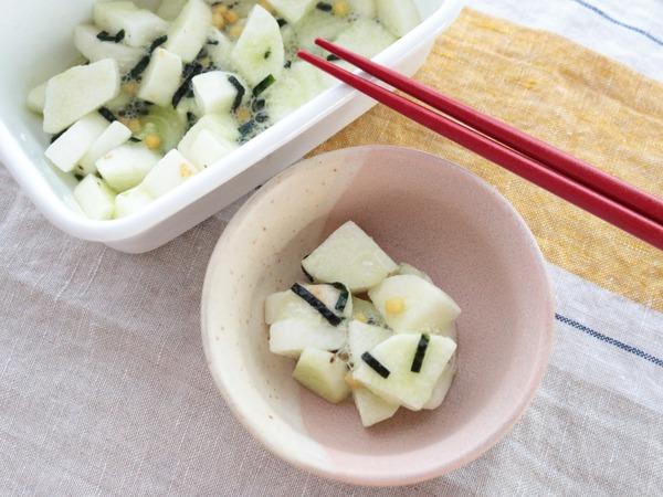"""3ステップで簡単!永谷園の""""お茶づけ海苔""""で作る「長芋のお漬物」箸休めにもおつまみとしても♪"""