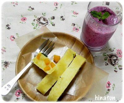 「カシス&すいかのスムージー」で健康朝ごはん♪