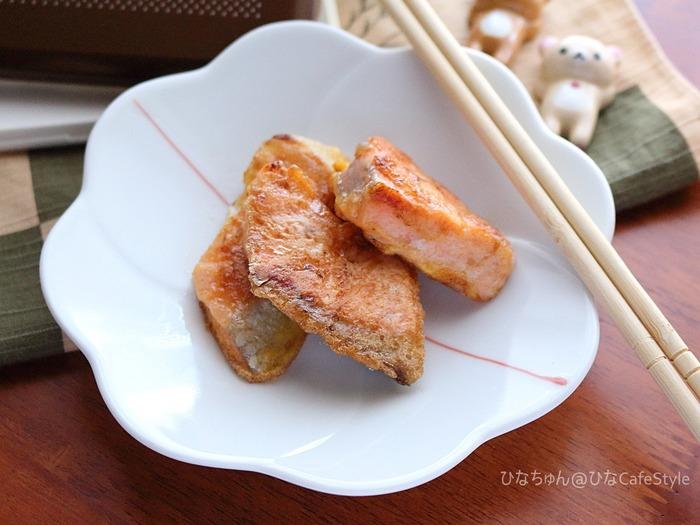 秋鮭のピカタ☆お弁当おかずや当然作り置きにも♪ボーソー米油部