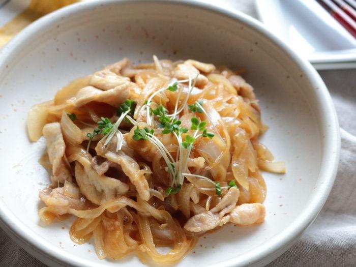 あっさり食べやすい豚の生姜焼き☆夏バテで食欲の無い時ほどお勧めです