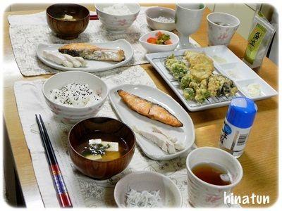 こごみの天ぷらと・・・ブルーベリーの実がなりました!