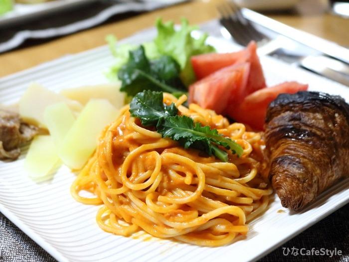 スパゲッティミニで作るワンプレート☆昨日の夜ご飯はこんな感じ。