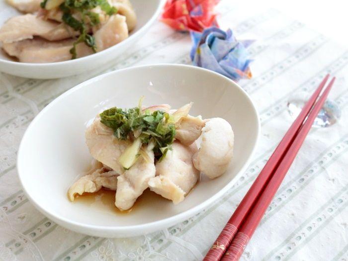 【スパイス大使】レンチン5分!作り置きOK!鶏むね肉のさっぱりポン酢がけ