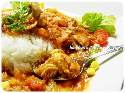 0123鶏手羽元のトマト煮込みアップ