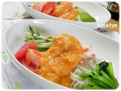 玉ねぎトマトピューレのお素麺