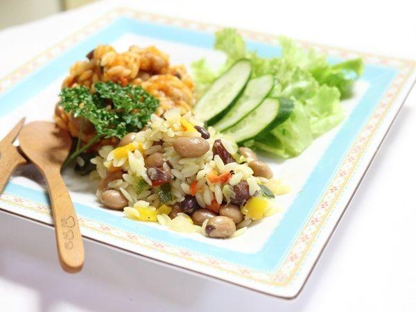 一度で2度美味しい!3種の豆と彩り野菜のリゾーネ