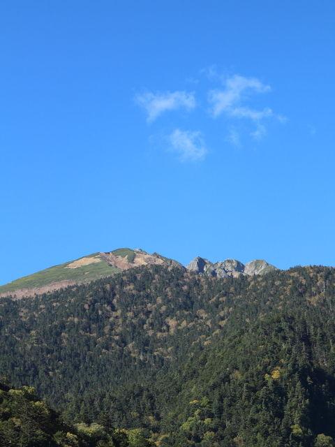 穂高連峰と空