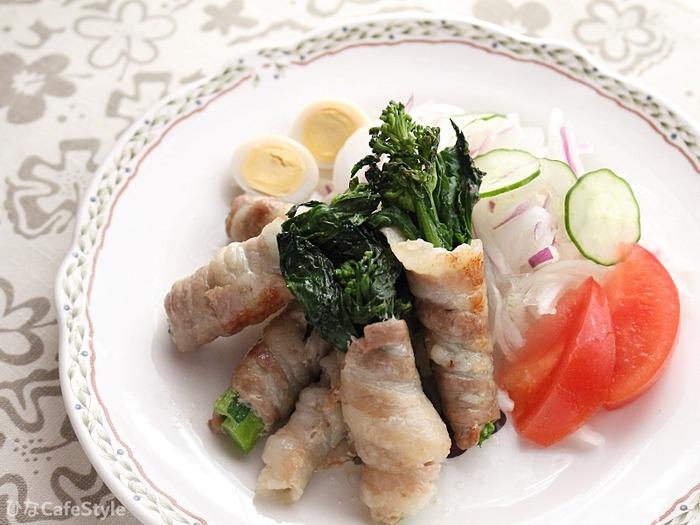 菜の花の肉巻き☆肉巻き効果で苦手な野菜も食べてもらおう♪