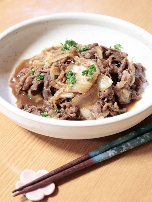 牛肉と白菜の炒め物・縦斜俯瞰_1600