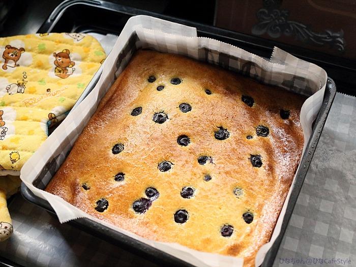くちどけなめらか幸せ食感☆ブルーベリーのせベイクドチーズケーキ