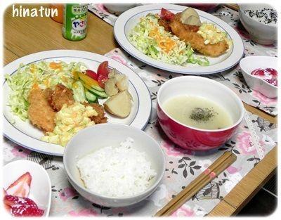 洋食の日はエビフライ 和食の日はケイちゃん焼き