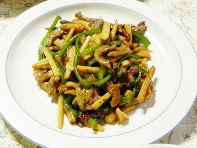 筍料理 第2段 「青椒肉絲」