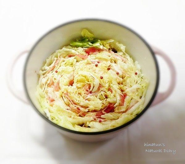 白菜と豚バラ肉のミルフィーユ鍋1