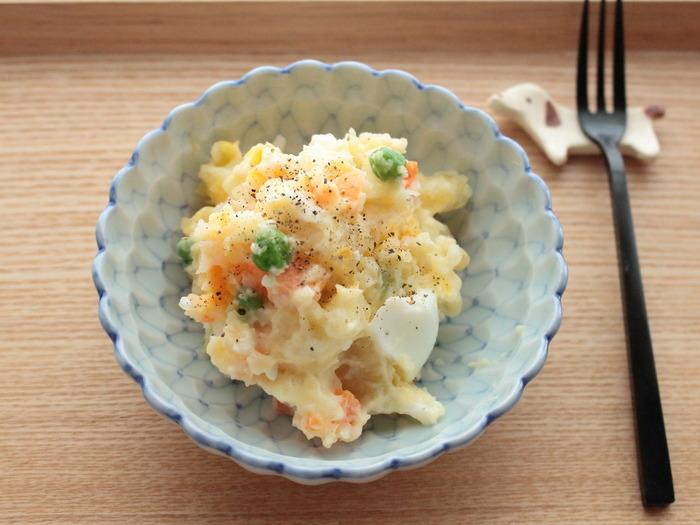 ゆで卵でボリュームアップ!きゅうりやハムがなくても作れるポテトサラダ【レシピ】