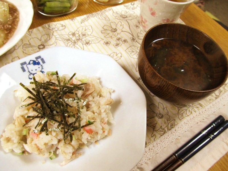 ひなちゅんの!なちゅらる日記-ちらし寿司&お味噌汁