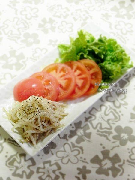 トマトとナムルのサラダ