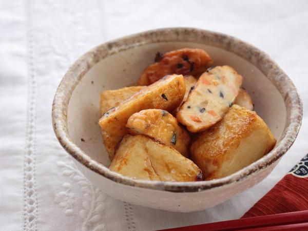 一正蒲鉾の練り製品で作るお弁当のおかず☆第2弾☆ふんわり白身魚揚げと豆腐のさっぱりポン酢炒め