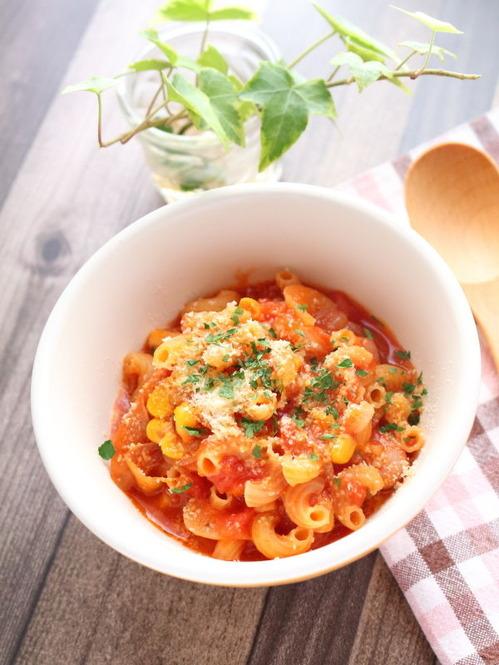 トマトチーズのパスタ☆今日は世界パスタデー♪