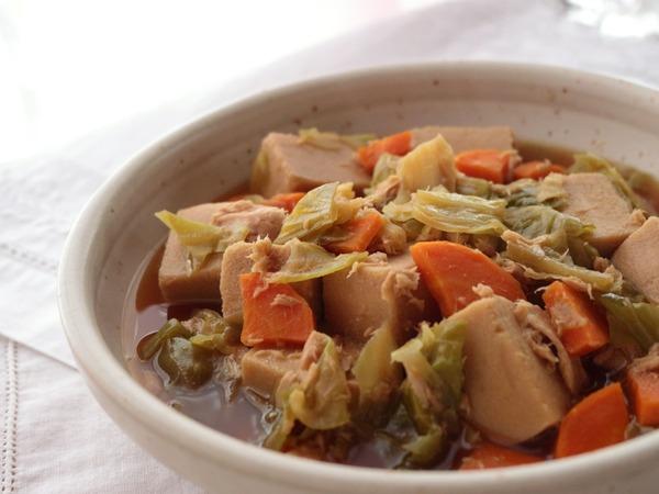 こうや豆腐とツナの旨煮・横アップ2_1600