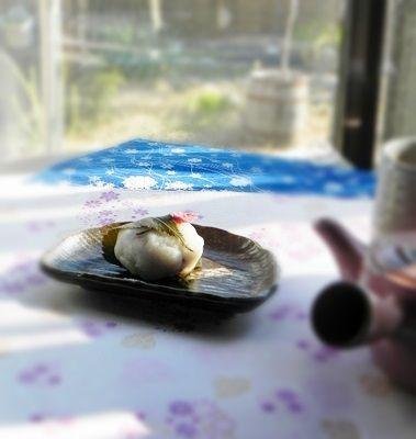 上新粉の桜餅