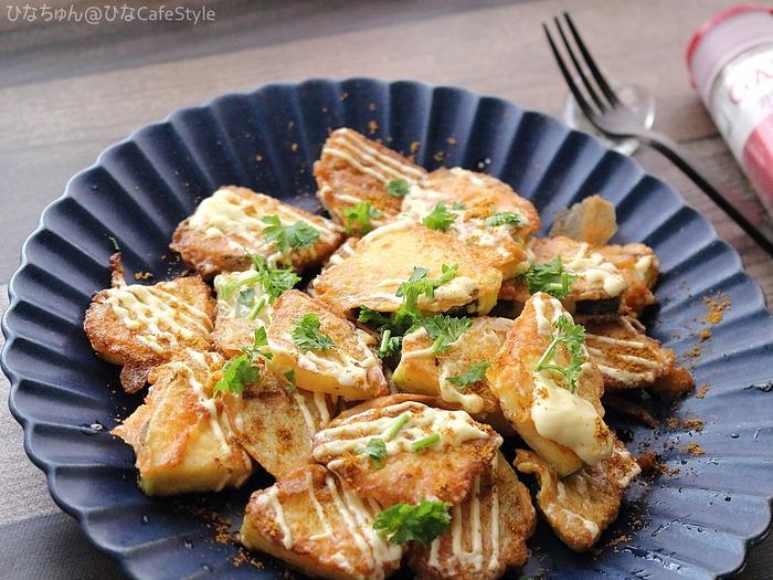 ズッキーニのピカタ(ガラムマサラ風味)