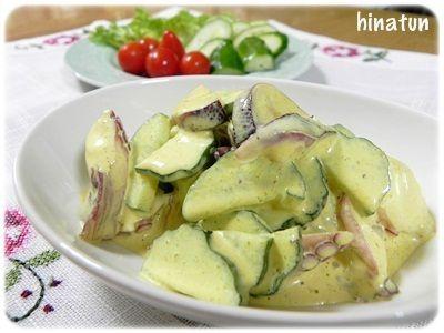 カレー風味のマヨ和え蛸サラダ