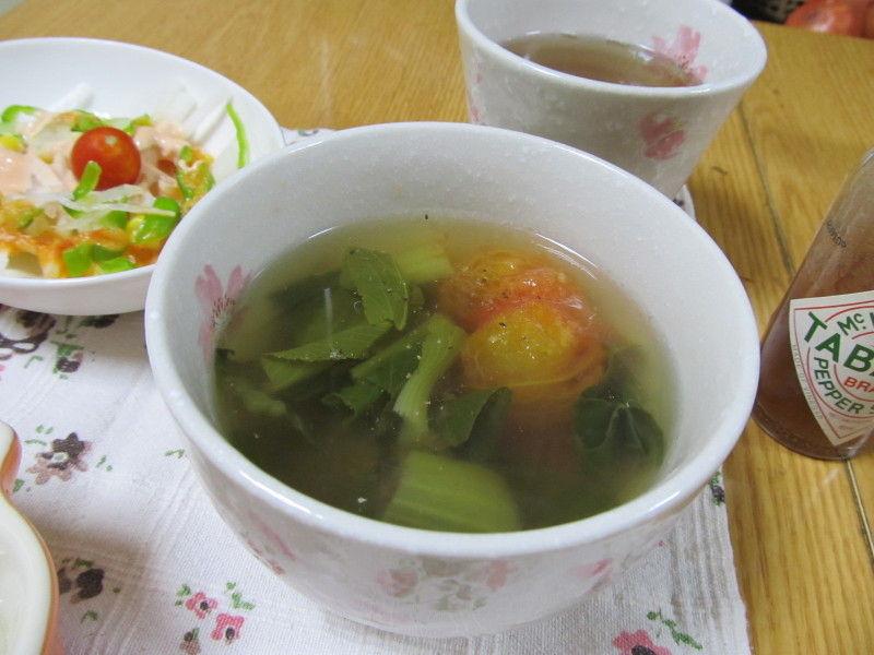hinatunの!なちゅらる日記-青梗菜とトマトのスープ