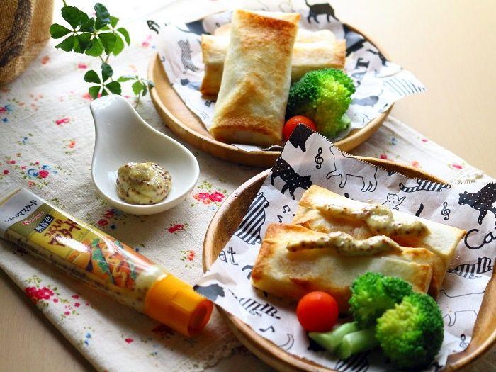 ウィンナーとチーズの春巻き☆揚げないおやつorおつまみに♬