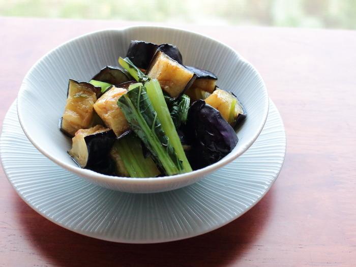 岐阜県産なすと小松菜の揚げびたし【レシピ】岐阜クッキングアンバサダー