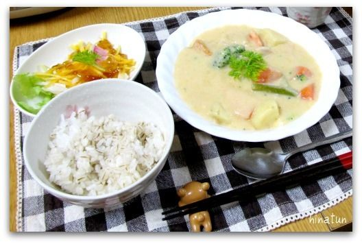 にんじんたっぷり♪「シチュー&サラダ」