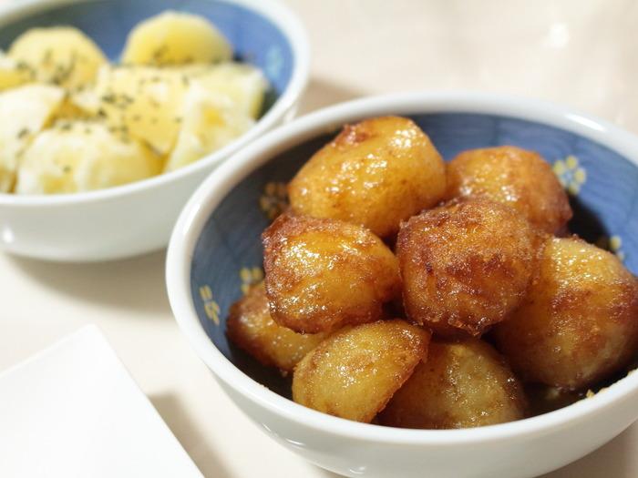 同時に作る!粉ふき芋と照り焼き芋【レシピ】