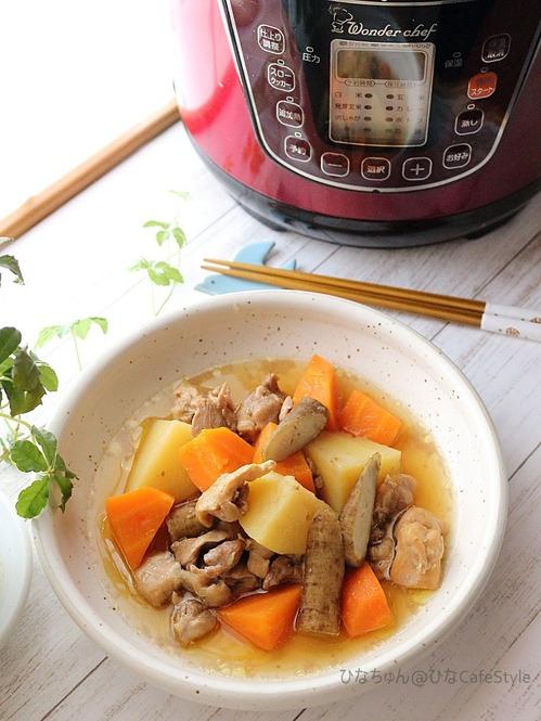 鶏肉と根菜の甘酢煮
