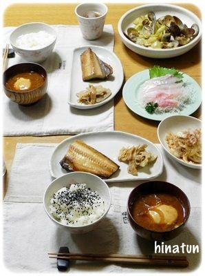 """昨夜は海鮮三昧""""the和食!""""な夜ごはん と、強風被害"""
