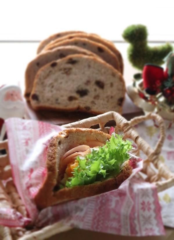 円熟「くるみ&レーズン」ぱっくりお口のあいたクミン香るポケットサンド