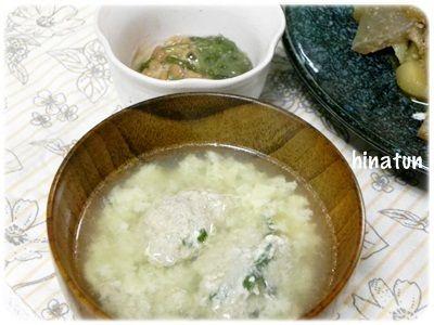 肉団子入り卵スープ