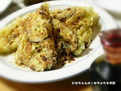 「白菜としいたけの和風なお好み焼き」と、モラタメさんへの投稿レシピで優秀賞をいただきました!