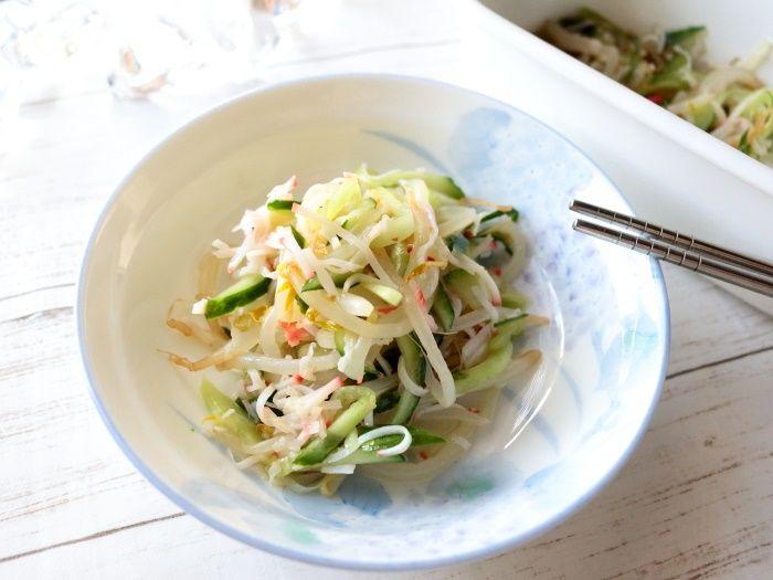 5分で作る!子供も大好き♡きゅうりともやしのナムル風中華サラダ