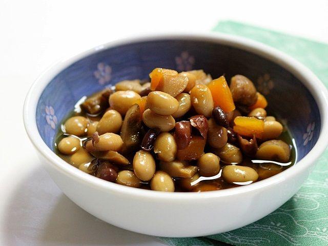 【家庭用電気圧力鍋】で作る「3種の豆入り五目豆」