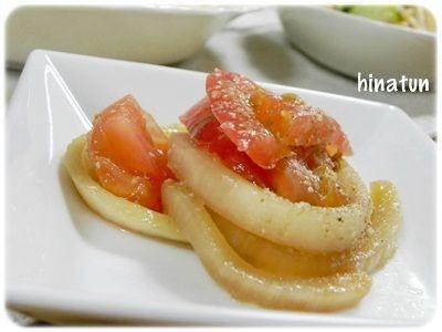 甘み玉ねぎのトマトのお浸し