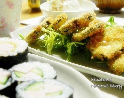 """魚肉ソーセージフライ巻き&カッパ巻き 久しぶりに""""からし豆腐"""""""