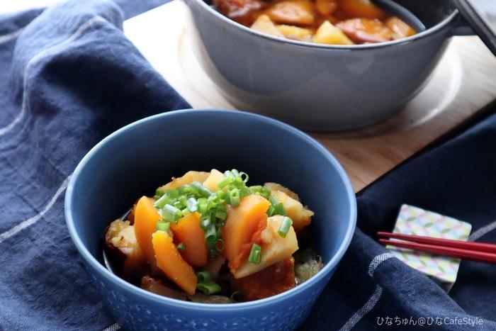かぼちゃとさつまいもの煮もの☆ストウブで作る和食も美味しい♪