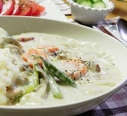 白菜ときのこ・ツナのクリームシチュー500